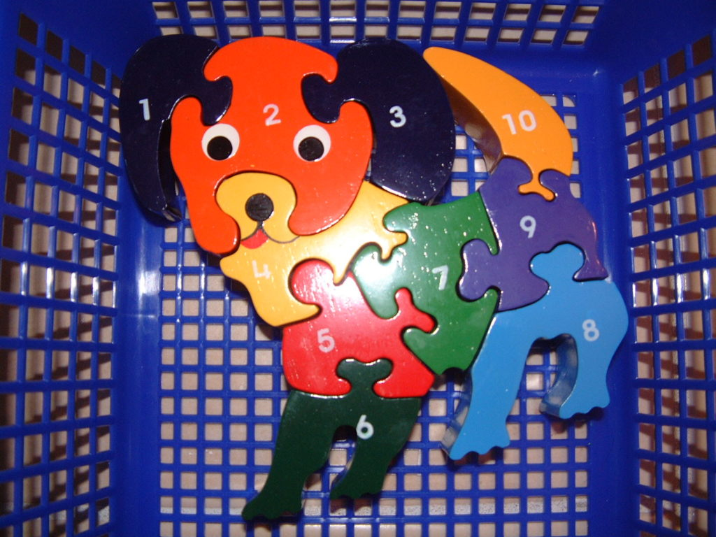 M3 Puzzle (Dog with numbers)