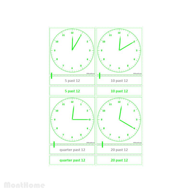MH-SC12-A Clock cards 5 mins