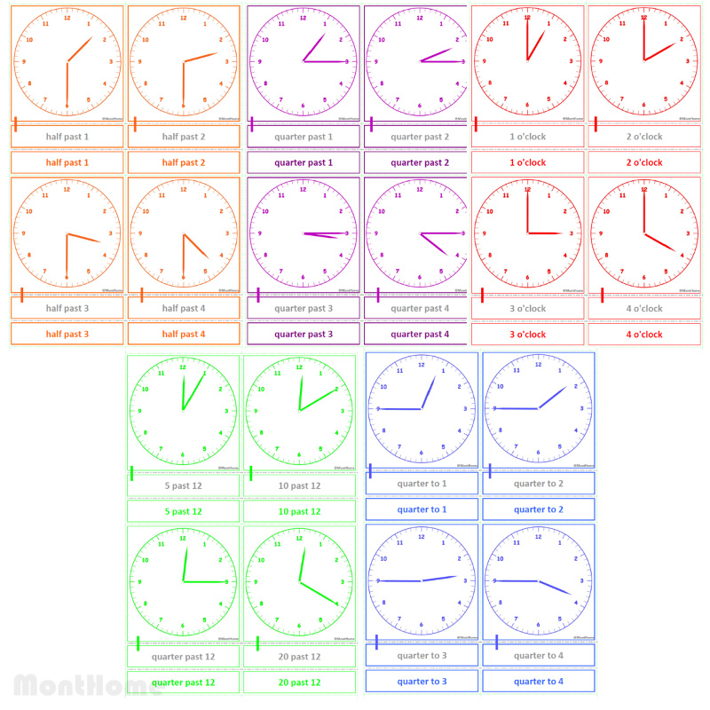 MH-SC12 Clock cards (set)