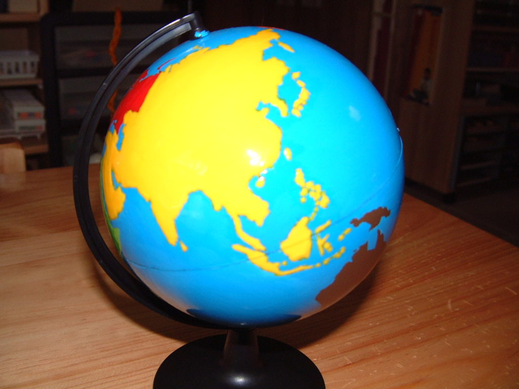 G3 Globe of the world parts