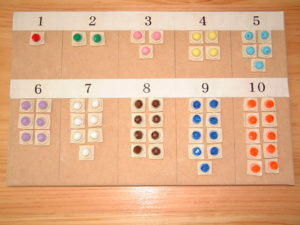 M10 1 to 10 board with colored beads