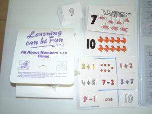 M34 Numbers 1-10 Bingo