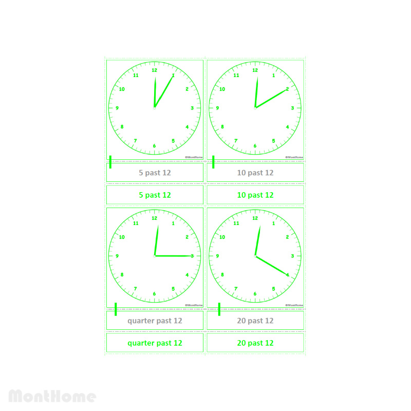 MH-SC12-A Clock cards 5 mins