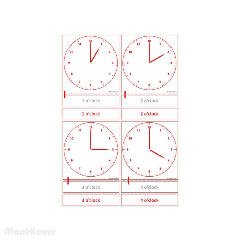 MH-SC12-C Clock cards o-clock