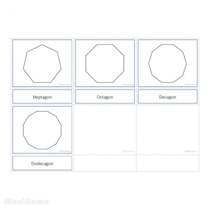 3 Part Cards - Shapes - MontHome