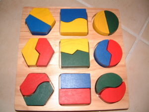 P14 Puzzle (Part Whole Shapes)