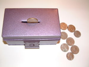 P42 Coins through slot