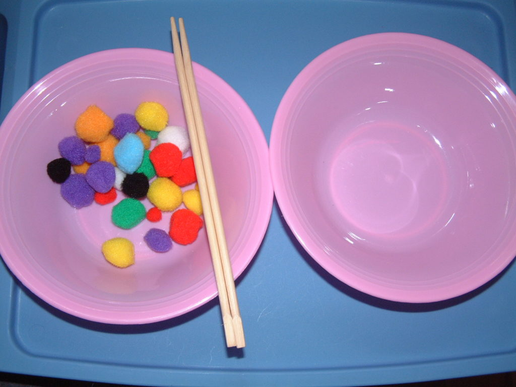 P50 Transferring with chopsticks (pom-poms)